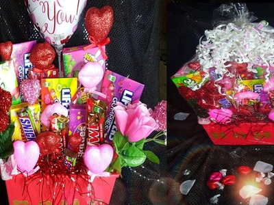 DIY || HOW TO MAKE A VALENTINE'S DAY CANDY BASKET