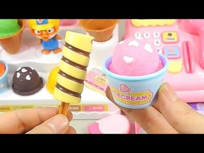 DIY How To Make Ice Cream Toys Shop Market Cash Register Learn Colors Kinetic Sand Slime | BINGO