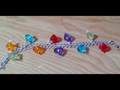 DIY Jewelry Making - How to Make an Easy  Colorful Bracelet + Tutorial !
