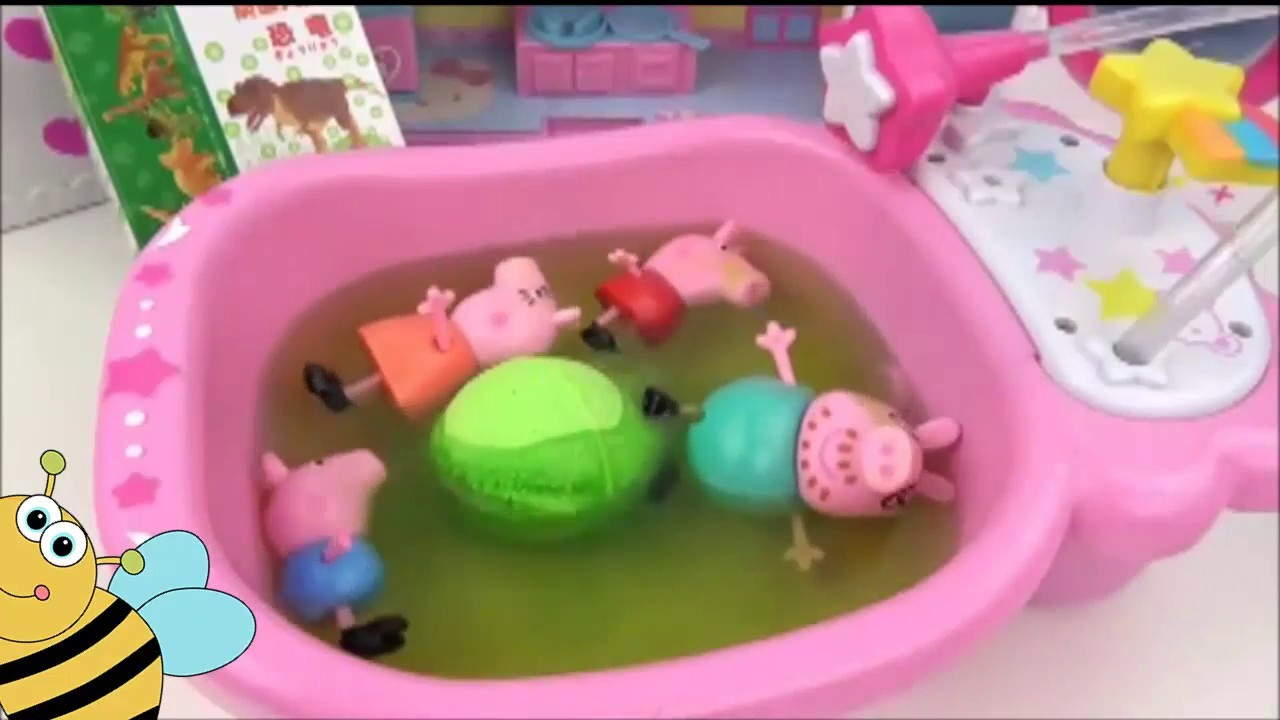 DIY Learn Colors With Peppa Pig in Toilet KInder Surprise Lyan Toys