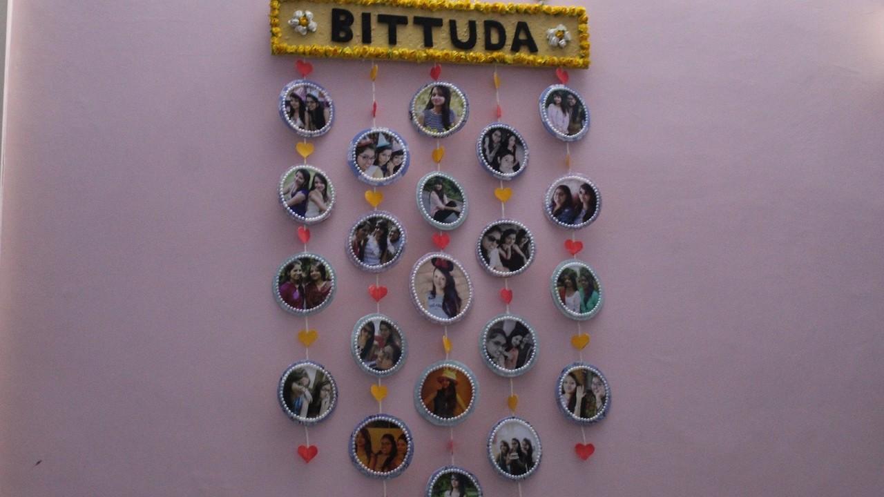 DIY photo wall hanging #paper crafts#
