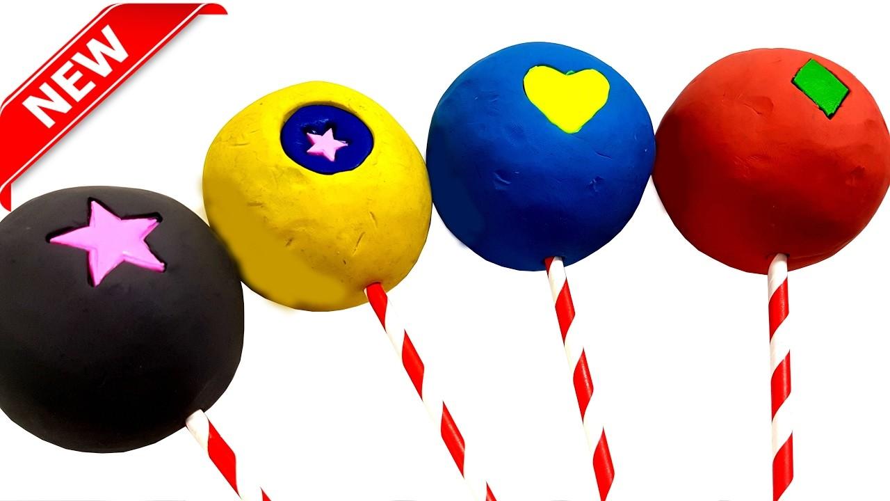 DIY Play-Doh Surprising Big Lollipops with Toy Inside Surprise Egg