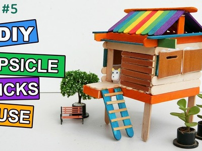 DIY Popsicle Sticks House Craft #5: Do it yourself