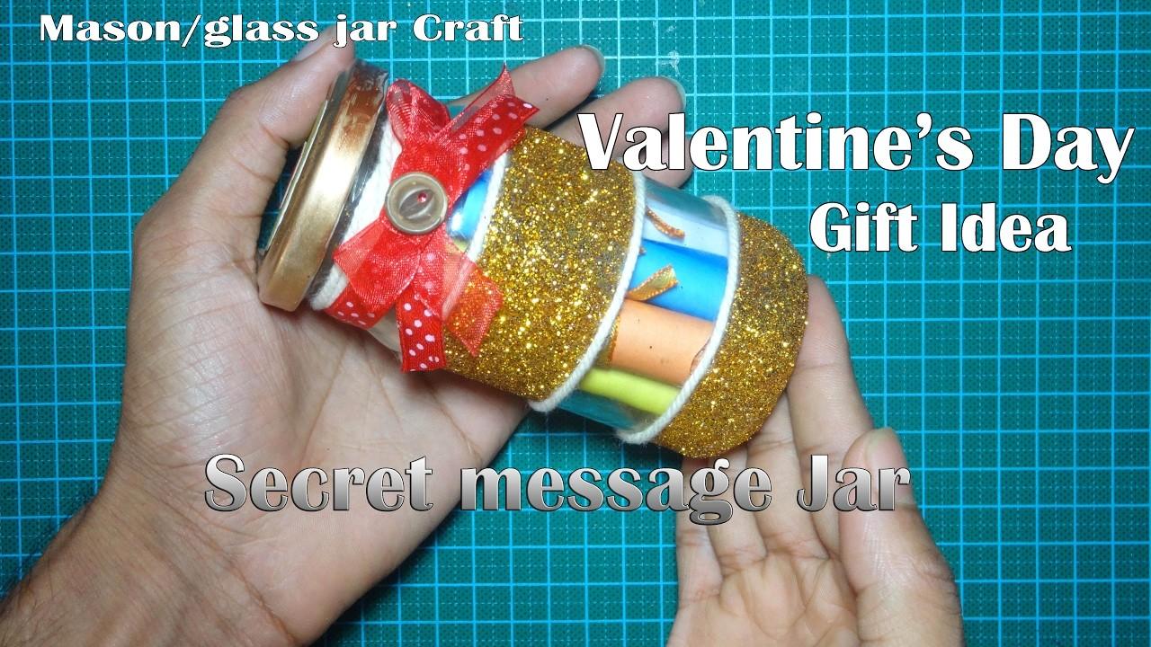 DIY  ♡ Secret Message Jar  ♡ Valentine's Day Gift Idea  ♡