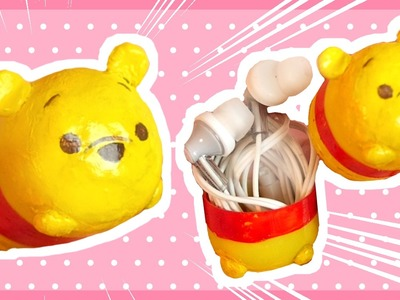 DIY Tsum tsum Pooh Earphone Case | Kinder Surprise Egg | CC FOR ENGLISH