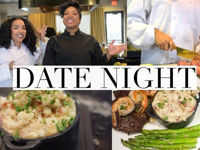 DIY Valentine's Date Night! We're Cooking! #ChefnCurls