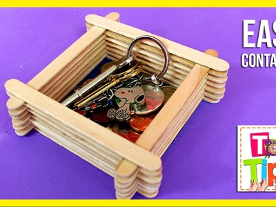DIY wooden CONTAINER * CAJITA para LLAVES y MONEDAS ✅  Top Tips and Tricks in 1 minute