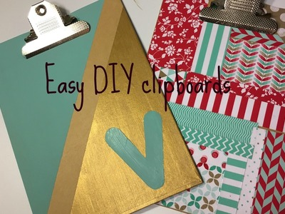 Easy DIY clipboard decor. Victoria's Shop