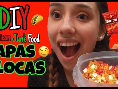 EATING POISON   DIY Mexican Junk Food - How to make Papas Locas with Hot Cheetos and Doritos!