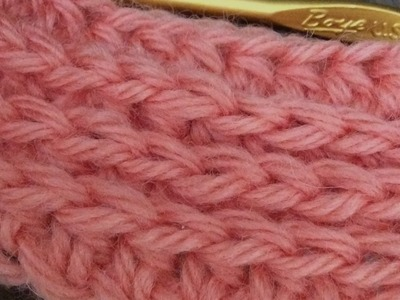 How do the HDC rib stitch