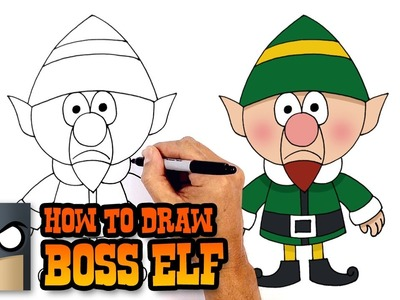 How to Draw Boss Elf | Christmas Drawing Lesson