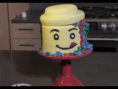 How to make a Lego Head Cake