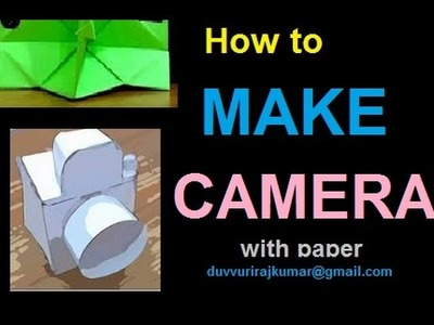 How to make a Paper Camera (Tutorial) - Paper Friends 18A | for Kids #