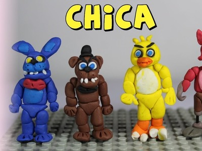 How to make Chica Polymer Clay Tutorial - Polymer Clay Chica FNAF Tutorial - Playdoh Chica