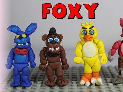 How to make Foxy Polymer Clay Tutorial - Polymer Clay Foxy FNAF Tutorial - Playdoh Foxy