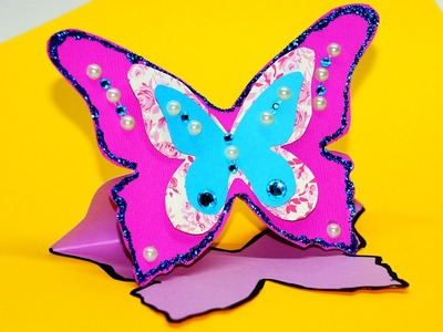 How to make greeting card butterfly. Greeting card making ideas. Paper craft ideas. Julia DIY