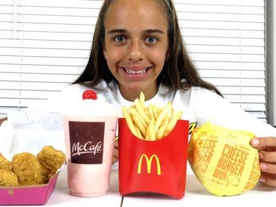 HOW TO MAKE MCDONALDS MILKSHAKE! Kids vs Food SKIT Diy Food Sophia Sarah TOYS TO SEE Family