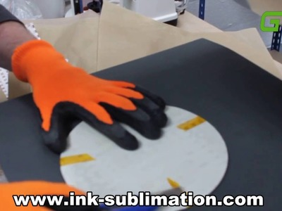 How to sublimate clock with heat press and sublimation paper