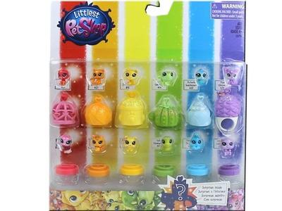 Littlest Pet Shop Rainbow Color Teensie Pets Pack Unboxing Toy Review