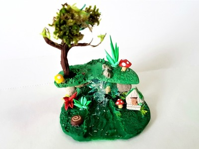 Miniature Fairy Garden in a Glass ✔ Polymer Clay Tutorial