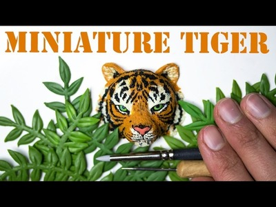 Miniature Tiger Sculpture. How To Speed Sculpt with Polymer Clay