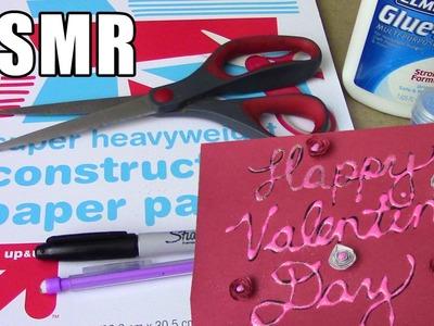 No Talking ASMR Construction Paper Crafts - Cutting, Gluing, Folding, Measuring, Writing