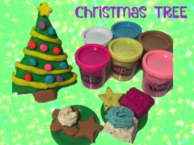 Play- Doh Christmas tree + Making cookies for Santa!