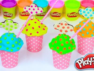 Play Doh Ice How to Make Ice Cream Rainbow cake Diy Toys Plastilina y Juguetes Castle Toys