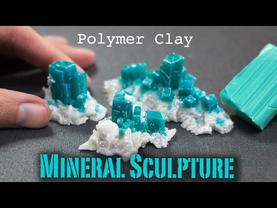Polymer Clay Gemstone Dioptase | How to Sculpt Tutorial