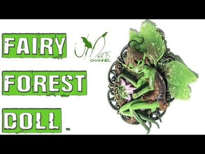 Polymer Clay Tutorial Miniature - Fairy Forest Doll - Paint Landscape with clay