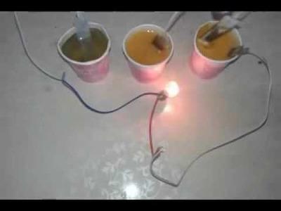 Salt Water Battery Lamp - DIY
