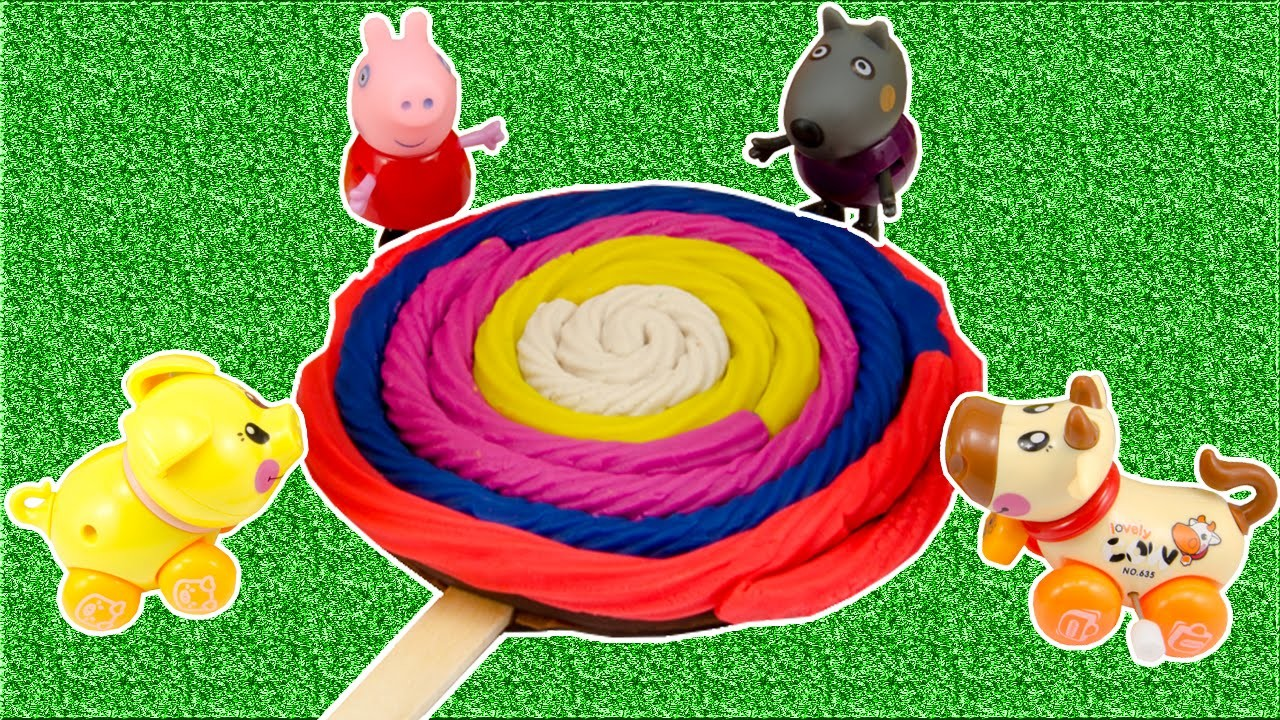 Stop Motion Peppa Pig DIY Play Doh Modelling Clay Popsicles Rainbow Compilation