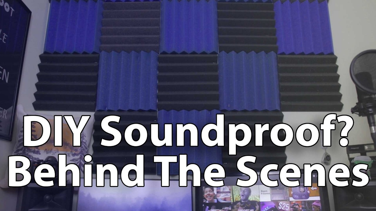 $30 DIY Sound Proofing. DIY Sound Treatment Behind Scenes! Safe, Free, Quick Install in Apartment!
