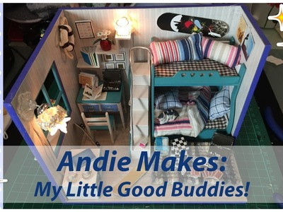 Andie Makes: DIY Dollhouse Kit with Working Lights - My Little Good Buddies (Blue)