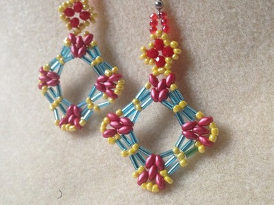 BUGLE BEADS EARRING || HOW TO MAKE PENDANT || DIY BEADS ||