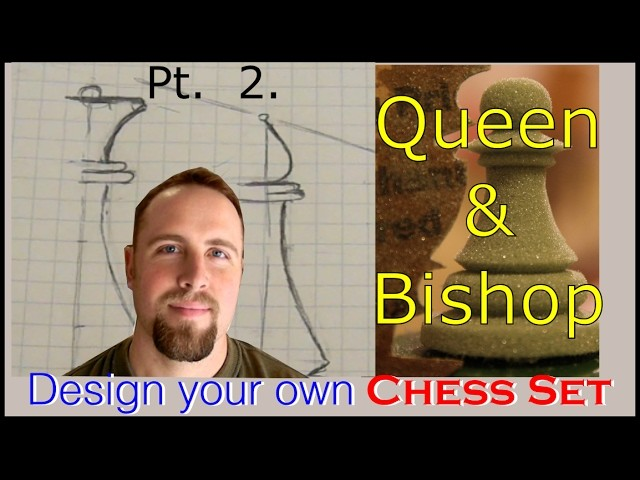 Design A Chess Set part 2( Queen and Bishop)with Conrad Craft. .