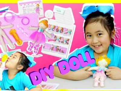 DIY doll making kit, make your own ballerina doll kit