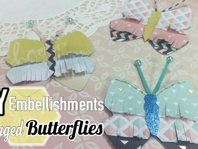 DIY Embellishments | Fringed Butterflies | Inspired by Maggie Holmes Chasing Dreams | I'm A Cool Mom