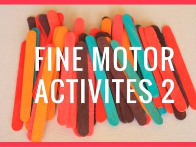 DIY | Fine Motor Activities All Using Home Supplies