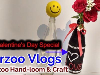 DIY Glass Bottle Art | HOME Decor Ideas | Arzoo Vlogs
