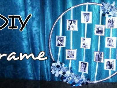 DIY | Hula Hoop Photo Frame | Wall Art | Wall Hanging Decorative with all your Memorable Photos