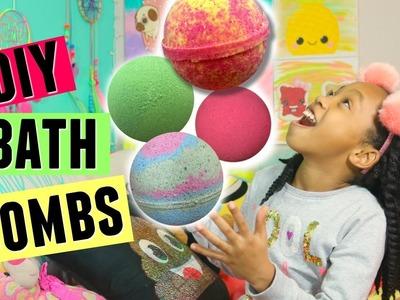 DIY LUSH INSPIRED BATH BOMBS AND DEMO!