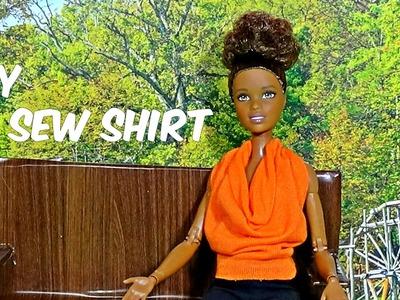 Diy no sew no glue doll shirt DIY For Dolls No sew top