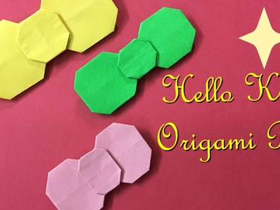 Hello Kitty Origami Bow Tutorial - Easy Craft