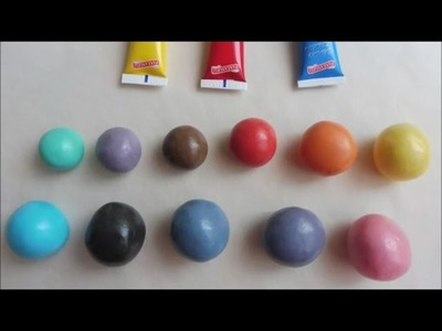 How to color fondant dough using only the 3 primary colors
