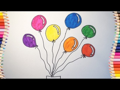 How to draw balloon for kids # Balloon coloring for children