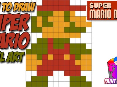 How to Draw Super Mario - Super Mario Bros Pixel Art Drawing Tutorial