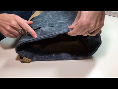 How to Get a Crisp Top Seam on a Waxed Canvas Bag