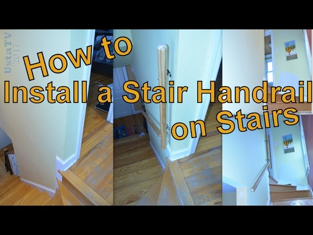 How to Install a Stair Handrail on Stairs.  UstaTV  Best DIY Projects