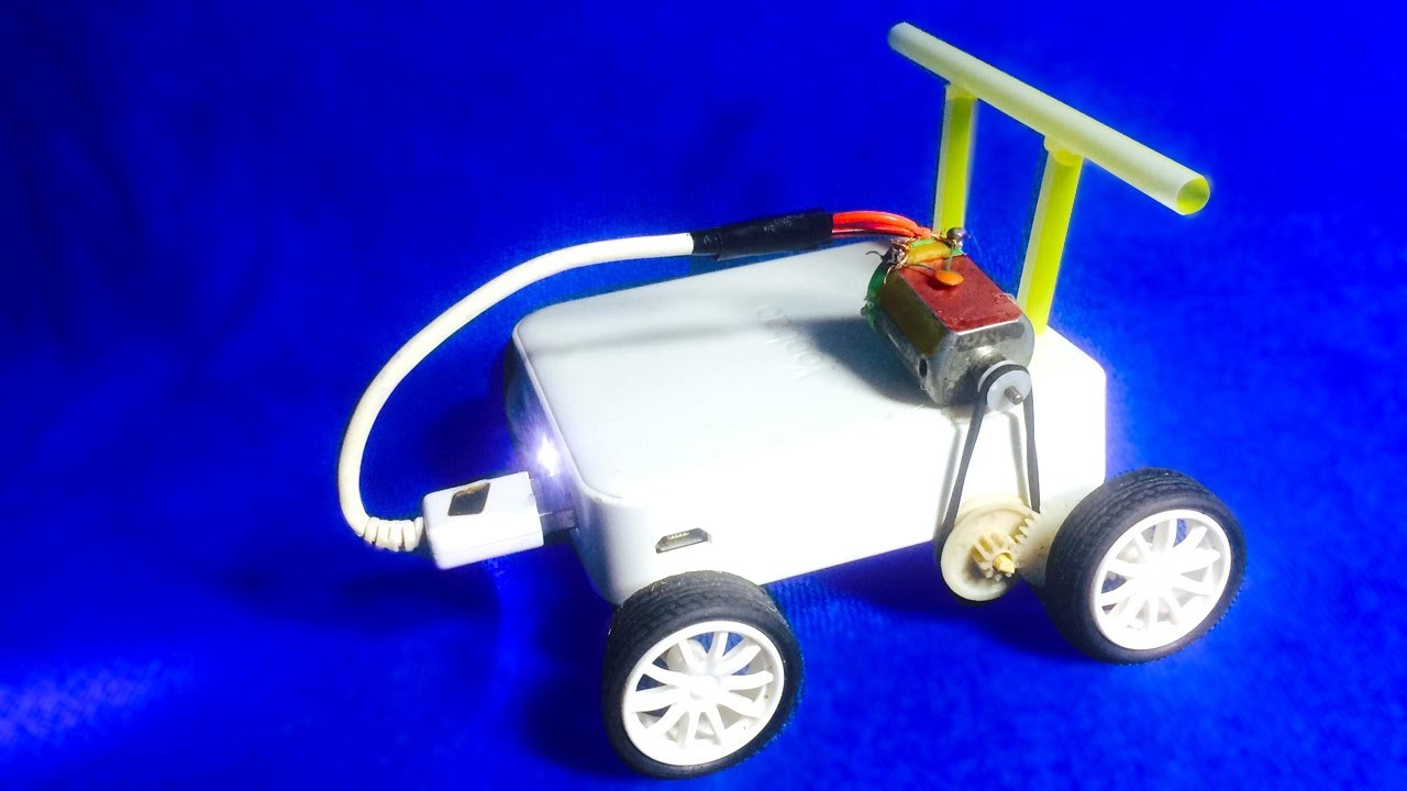 How to make a Car with power bank  DIY- Very Simple Idea